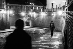 By Adrian Mitu Sibiu, Romania - 3 Feb 2016 (Adrian Mitu) Tags: street leica bridge blackandwhite bw woman cinema man film night walking blackwhite noir fuji shot outdoor pavement sony perspective streetphotography alpha liar adrianmitu