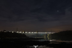 BRITANNIA BRIDGE1 (Thomas Winstone) Tags: longexposure bridge sky water wales night skyscape nightsky angelsey nightscapes britannia northwales britanniabridge