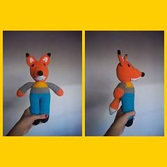 Anderson listo para el otoo.  (Miss Carlaina Love!) Tags: art kids toys design knitting dolls handmade crochet craft fox amigurumi colection