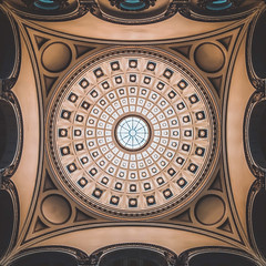 Milwaukee Public Library (ScottNorrisPhoto) Tags: usa building wisconsin architecture photography lights details skylight arches symmetry ceiling explore indoors milwaukee dome round ornate rotunda squarecrop neorenaissance milwaukeepubliclibrary 365project scottnorrisphotography