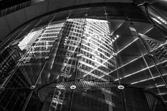 Deloitte, Chicago (nianci pan) Tags: city urban chicago abstract reflection building geometric glass modern mirror illinois pattern geometry contemporary sony line curve deloitte sonyalphadslr nianci sonyphotographing 伊利诺州 pan芝加哥