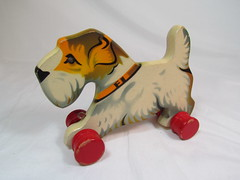 1950s Gecevo Terrier (Brickadier General) Tags: wood dog vintage toy toys pull wooden lego antique terrier german 1950s ddr holz spielzeug holzspielzeug visso not verhofa gecevo