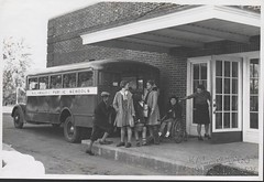 Upjohn School, Kalamazoo Public Schools, 1936-1941 (kplcommons) Tags: school woman bus history public students children photography michigan library wheelchair leg kalamazoo brace upjohn