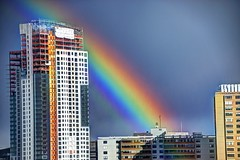 Building with Rainbow Colors (Rusty Russ) Tags: blue red sky people white color building green eye art colors boston composite skyscraper photoshop magazine t landscape ma creativity photo yahoo blog google rainbow paint flickr pin all image artistic massachusetts air creative young photographers commons manipulation brush blogs national montage saturation getty colourful newsroom paysage hue flic winners android geographic bing wiki facebook wikimedia openuniversity stumbleupon daum worldskills ilri painttexture reddit twitter photoscape tumblr flickriver pixelpeeper fiveprime flickrhivemind pinterest alpilo oceannetworks comflight stockpainterly