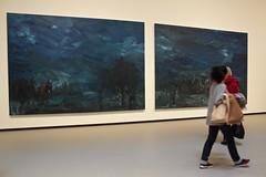 Les Temps Modernes - Modern TImes (2015, Yan PEI-PING) @ Fondation Louis Vuitton (annelaurem) Tags: art diptych modernart moderntimes oiloncanvas chineseartist lestempsmodernes fondationlouisvuitton yanpeiping