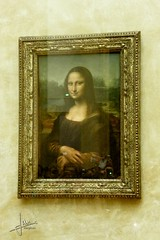 Paris - Musée du Louvre - La Joconde / Portrait de Mona Lisa (glanerbrug.info) Tags: museum îledefrance louvre frankrijk 2008 parijs parismuséedulouvre franceîledefranceparis
