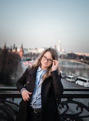 3 (evgeniy.korneychuk) Tags: street bridge sunset portrait water girl hair outside 50mm glasses long outdoor moscow young cutie curly d610 18g