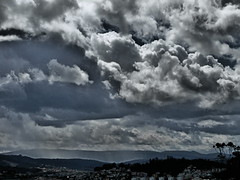 Threatening Skies over Coimbra (rgrant_97) Tags: sky portugal clouds effects dramatic olympus céu coimbra núvens sz15