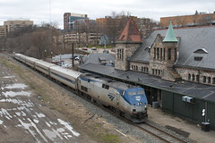 Windy City Bound (imartin92) Tags: railroad station train michigan annarbor rail amtrak passenger genesis ge wolverine generalelectric michigancentral p42dc