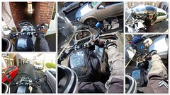 Squeeze!! (Mike-Lee) Tags: home mike car bike collage alley jill picasa squeeze motorbike passage navi dayout gopro gennal april2016 cagivanavigator1000