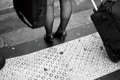 (bady wong) Tags: bw woman art foot noiretblanc body femme nb talon contraste pied society rue ville socit trottoir argentique dpart urbain curieux streatart fminit paysageurbain photographieargentique