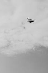 Paper Plane (jaciskelton) Tags: sky blackandwhite make paper paperplane