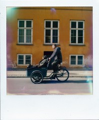 Roidweek 2014 - Day 3, Shot 2 -The Cycle of Life (Ray Liu (Photographer)) Tags: life dog copenhagen polaroid cycling cyclist instant slr680 instantphotography filmphotography polaroidweek filmisnotdead roidweek believeinfilm