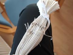 trying to do some adire alabere... (Anita Thomhave Simonsen) Tags: cotton dyeing shibori anitathomhavesimonsen