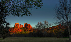 Captured millions of times - and there will be more (John A. McCrae) Tags: sunset arizona unitedstates sedona redrock cathedralrock pentaxk5 crescentmoonranchpark