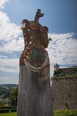 Iron maiden (quinet) Tags: woman castle art germany kunst femme frau schloss chteau 2012 castleroad burgenstrase