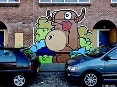 Art District Schilderswijk : NOL (Akbar Sim) Tags: streetart holland netherlands graffiti nederland denhaag thehague nol schilderswijk agga schuttingtaal akbarsimonse haagwonen akbarsim straatexponl artdistrictschilderswijk