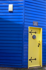 Yellow door 1  EXPLORED 15/04/16 no.304 Thanks! (jimj0will) Tags: door blue tower yellow timber historic essex coggleshall