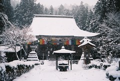(Jake_Wang) Tags: travel winter snow film japan canon temple