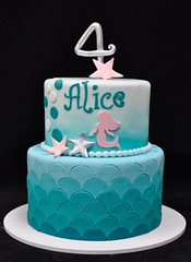 Mermaid birthday cake (jennywenny) Tags: birthday cake silver teal mermaid