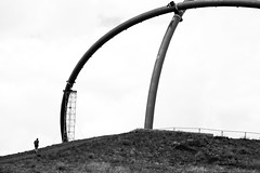 .( (O.I.S.) Tags: people bw man alone sw mann observatorium recklinghausen halde hoheward