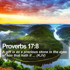 Daily Bible Verse - Proverbs 17:8 (daily-bible-verse) Tags: love ministry jesusislord teamjesus