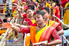 Impression of Festival: Celebration of  Spring Festival (Suman Kalyan Biswas) Tags: portrait people india smile fun happy women emotion outdoor expression vibrant culture portraiture colourful holi enjoyment springfestival westbengal candidphotography coloursoflife festivalofcolours indianfestival varicoloured happyholi   emotionalmoment  bethuadahari  colourfulface        autoremovedfrom1to5faves nakashipara faceoffestival          thefaceoffestival