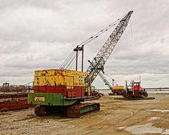 Bucyrus Erie 30-B (thetrick113) Tags: yard lakeerie crane machine cable equipment hdr sanduskyohio 30b sanduskybay stateofohio bucyruserie eriecountyohio sonyslta65v bucyruseriecrane bucyruserie30b