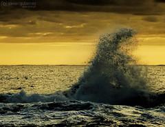 Up! (gjaviergutierrezb) Tags: sunset sea water waves
