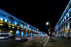 Praspekt Nezalezhnastsi (W***) Tags: by licht nacht strasse belarus minsk allee weissrussland weisrussland minskregion