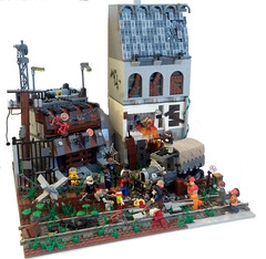 Zombie ambush. (krof123) Tags: trapped lego zombie attack apocalypse apoc legoapocalypse