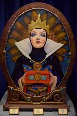 Disneyland Visit - 2016-04-24 - Main Street - Disneyana - The Vault - Original Artwork of the Evil Queen - Doubly Sure by Yakovetic (drj1828) Tags: us artwork disneyland visit anaheim dlr snowwhiteandthesevendwarfs 2016 evilqueen