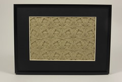 Double Spearhead Tessellation (framed) (Micha Kosmulski) Tags: square grey beige origami gray double frame spearhead tessellation michakosmulski ekoluxpaper