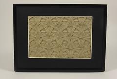 Double Spearhead Tessellation (framed) (Michał Kosmulski) Tags: square grey beige origami gray double frame spearhead tessellation michałkosmulski ekoluxpaper