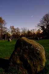 One of Nine (Lee M Wyatt) Tags: ladies sky stone night circle star ancient derbyshire nine trail moonlit april moonlight moor prehistoric stanton 2016