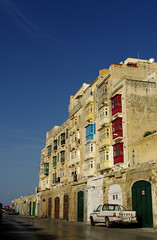 Street View (It's Stefan) Tags: street windows summer colors colorful balcony malta balconies valletta