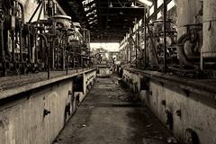 Chemistry Set (95wombat) Tags: old bw newyork abandoned monochrome industrial decay rusty decrepit ruined rotted contaminated