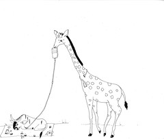 giraffe and gnu (Mango*Photography) Tags: pictures animals hospital book funny wildlife humor illustrations parrot manatee medical doctor koala nurse giraffe gnu anteater laught giuliabergonzoni