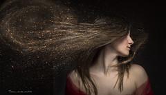 Stardust (Soloross) Tags: light portrait sky woman girl beauty photoshop hair studio stars donna fineart cielo ritratto luce bellezza ragazza capelli stelle