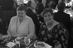 """Heather Monroe and Kay Smallwood, wives of Bob and Ed respectively, enjoying the Governor's Banquet at the 2016 District Conference.Photo credits: Ed SmallwoodMore information: <a href=""""http://northraleighrotary.org/2016-district-conference"""" rel=""""nofollow"""">northraleighrotary.org/2016-district-conference</a>"""