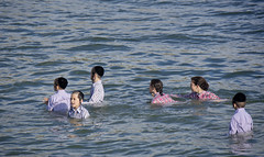Uniform in the water (Dan_lazar) Tags: holiday water kids port religious israel uniform tel aviv celebration orthodox  passover