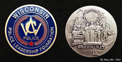Wisconsin Police Leadership Foundation Coin (Nate_892) Tags: county green wisconsin bay coin conservation police grand valley badge fox milwaukee waukesha sheriff patch tribe sheboygan gresham wi chute challenge swat oneida outagamie
