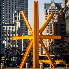 The Way She'd Use Emoticons (Thomas Hawk) Tags: sculpture usa wisconsin america unitedstates unitedstatesofamerica milwaukeeartmuseum milwaukee markdisuvero fav10 thecalling fav25