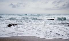 Sea (Cristina Mateos) Tags: blue sea sky costa naturaleza beach nature water canon landscape coast sand agua playa paisaje arena olas ola ocano airelibre orilladelmar