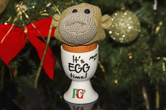 Monkey's an egg (warmer) (Kev Gregory (General)) Tags: uk vegas television shop digital advertising monkey office high knitting sock ebay ben puppet tea susan patterns character united kingdom jim pg lancashire company miller short tips johnny british characters animated knitted tshirts gadget gregory creature kev brand nigel accent produced appearance demand henson supply munkeh sitcom itv beattie popularity the campaigns bankruptcy purchased womanizer plaskitt puppeteered