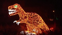 toothsome (johngpt) Tags: dinosaur tyrannosaur riveroflights abqbotanicgardens