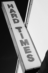 (Casey Lombardo) Tags: blackandwhite bw signs signage bwphotography oldsigns hardtimes bellflower bellflowerca