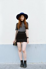 DSC_3729 (Likeabyul) Tags: china portrait paris france fashion french asian chinese style korean hm asiangirl asos frenchblogger fashionblog widebrimmedhat fashionblogger highnecktop stylenanda