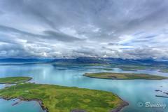 North side of Reyjkavík harbor (stevebfotos) Tags: volcano is iceland tour glacier helicopter glaciers reykjavík hdr eruption aerials capitalregion eyjafjallajökull photomatix nordurflug volcanoglacierstour