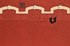 Let the Sun Shine In #2 (mpardo.photo) Tags: windows red wall three bricks keystone stcatharines cc0 pentaxart